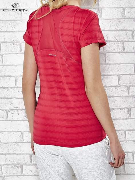 Różowy damski t-shirt sportowy PLUS SIZE                                  zdj.                                  4