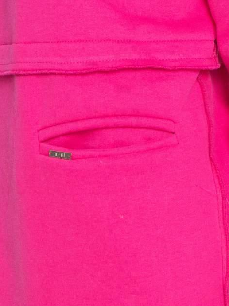 Różowy dresowy bluzopłaszczyk o pudełkowym kroju                                  zdj.                                  7