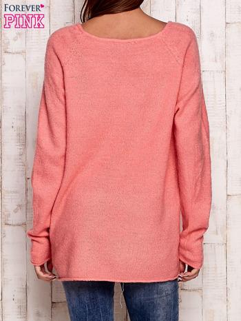 Różowy dzianinowy sweter                                   zdj.                                  4