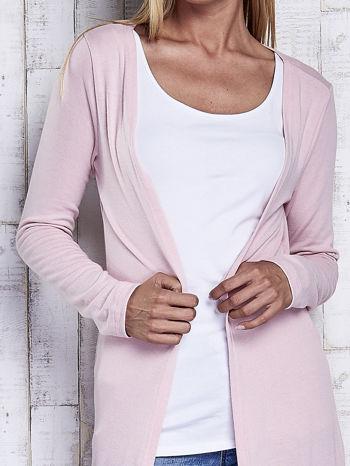 Różowy gładki sweter z otwartym dekoltem                                  zdj.                                  6