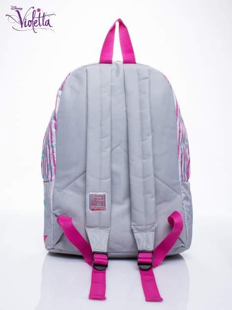 Różowy plecak szkolny w paski DISNEY Violetta                                  zdj.                                  3