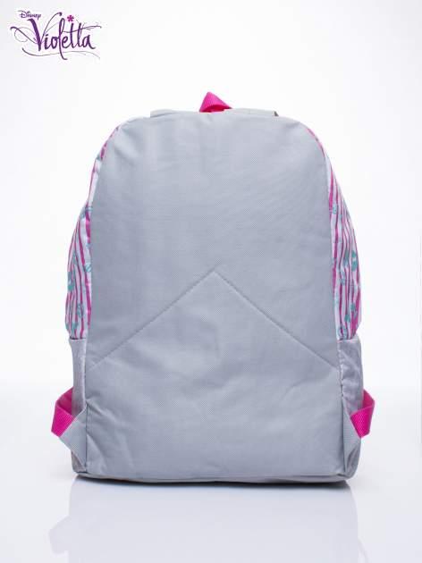 Różowy plecak szkolny w paski DISNEY Violetta                                  zdj.                                  4