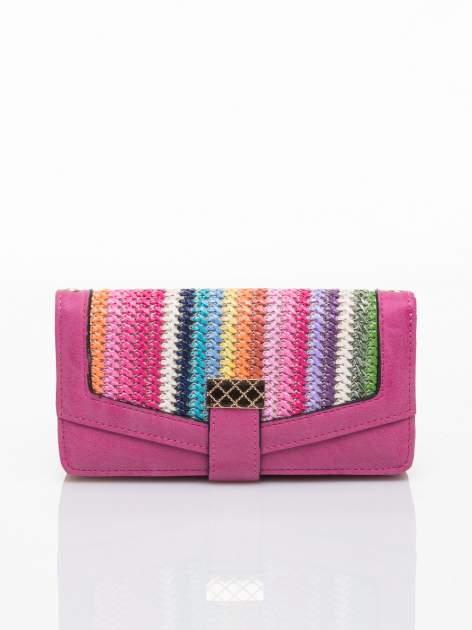 Różowy portfel z plecionką                                  zdj.                                  1