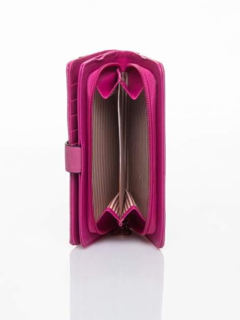 Różowy portfel z plecionką                                  zdj.                                  5
