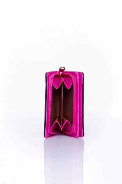 Różowy portfel z plecionkowym wykończeniem                                  zdj.                                  4