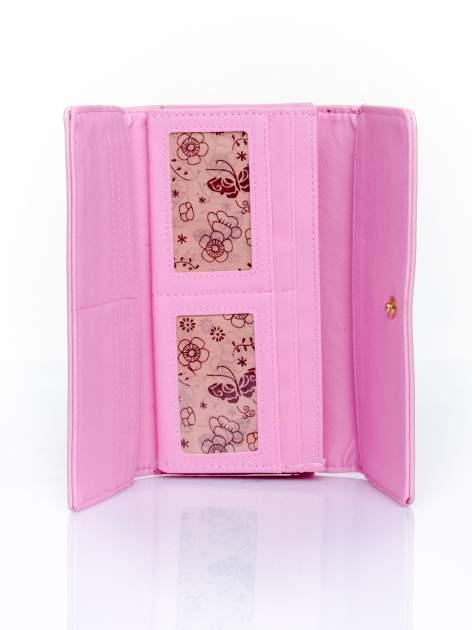 Różowy portfel ze złotym zapięciem                                   zdj.                                  4