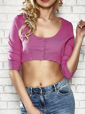 Różowy sweter cropped z guzikami Funk n Soul                                  zdj.                                  5