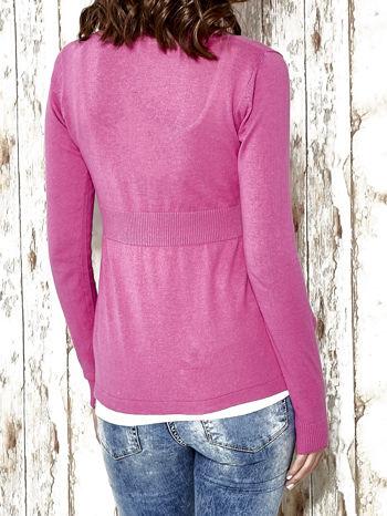 Różowy sweter zapinany na guziki Funk n Soul                                  zdj.                                  6