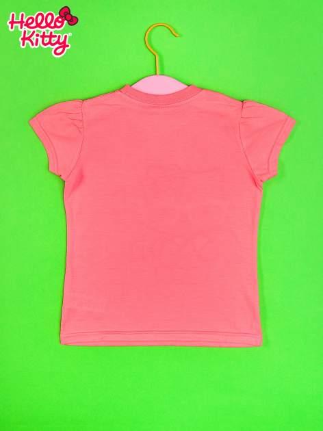 Różowy t-shirt dla dziewczynki HELLO KITTY                                  zdj.                                  2