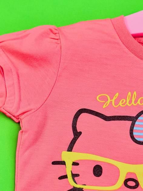 Różowy t-shirt dla dziewczynki HELLO KITTY                                  zdj.                                  3