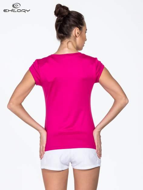 Różowy t-shirt sportowy termoaktywny                                   zdj.                                  3