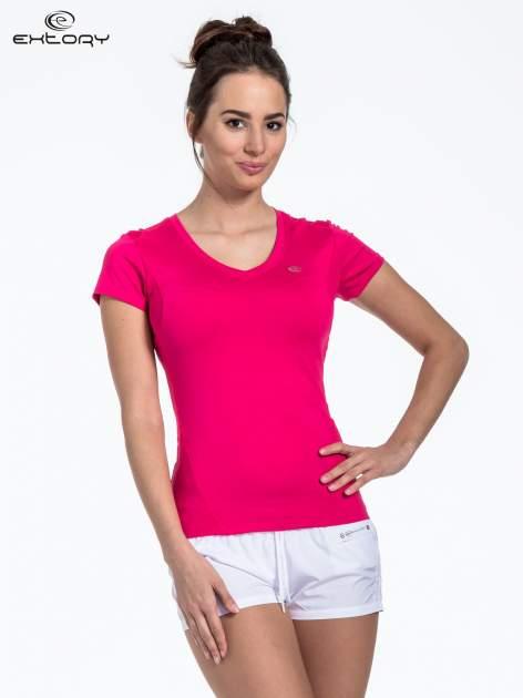 Różowy t-shirt sportowy termoaktywny                                  zdj.                                  1