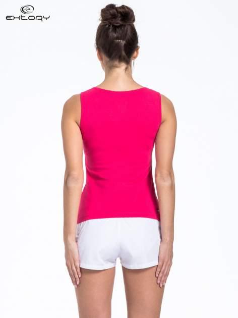 Różowy top sportowy z białą wstawką                                  zdj.                                  3