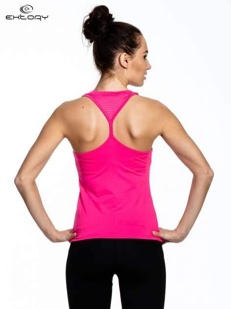 Różowy top sportowy z przezroczystymi modułami                                  zdj.                                  3