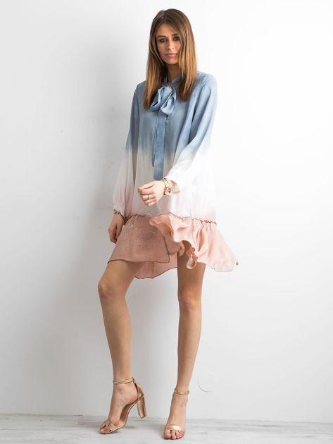 Ciemnoniebieska sukienka ombre                               zdj.                              4