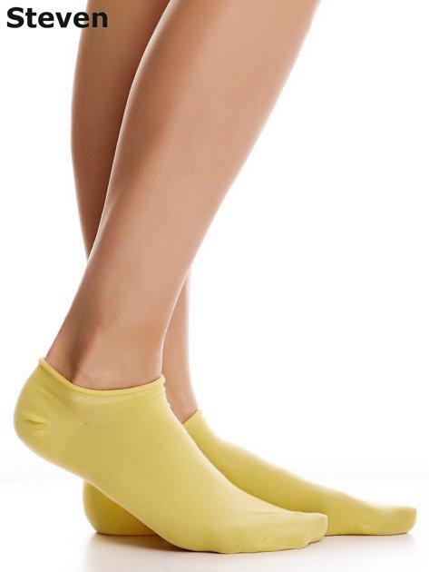 STEVEN Bawełniane żółte skarpety stopki                              zdj.                              2