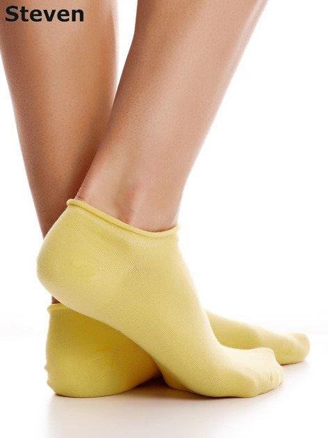 STEVEN Bawełniane żółte skarpety stopki                                  zdj.                                  1