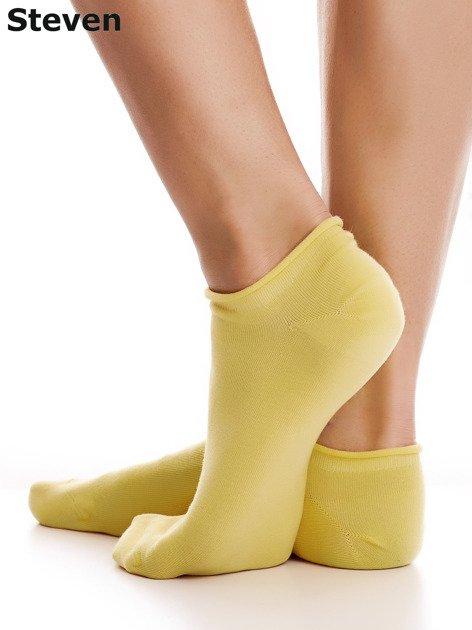 STEVEN Bawełniane żółte skarpety stopki                                  zdj.                                  3