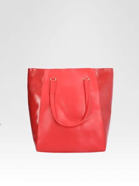 STRADIVARIUS Czerwona torba shopper bag                                  zdj.                                  1