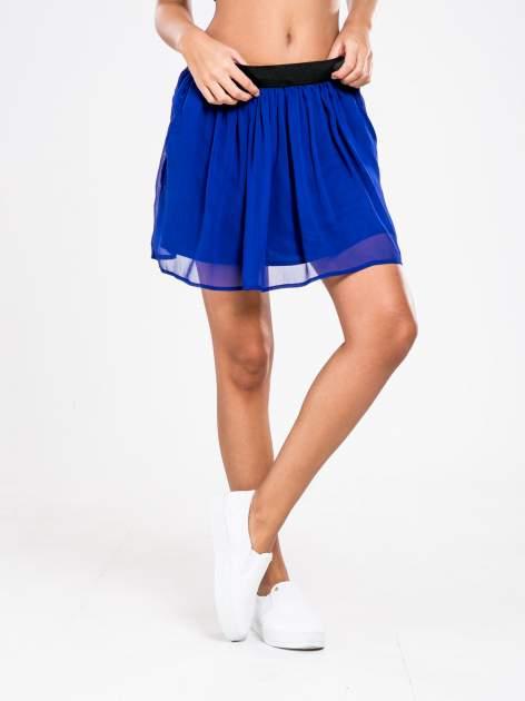 STRADIVARIUS Kobaltowa spódnica mini                                  zdj.                                  1