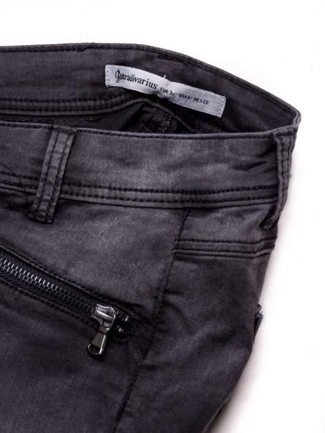 STRADIVARIUS Szare spodnie typu skinny jeans z suwakami                                  zdj.                                  3