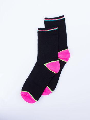 Skarpetki damskie czarne kolorowa stopa i palce mix 5 par                                  zdj.                                  3