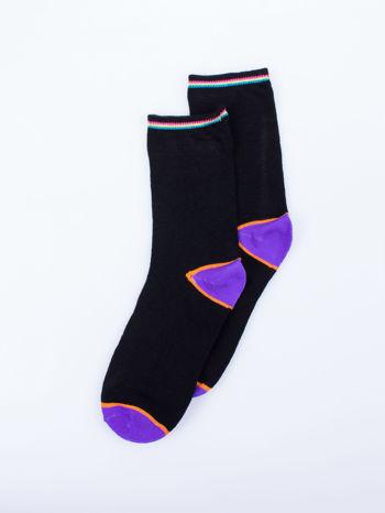Skarpetki damskie czarne kolorowa stopa i palce mix 5 par                                  zdj.                                  11