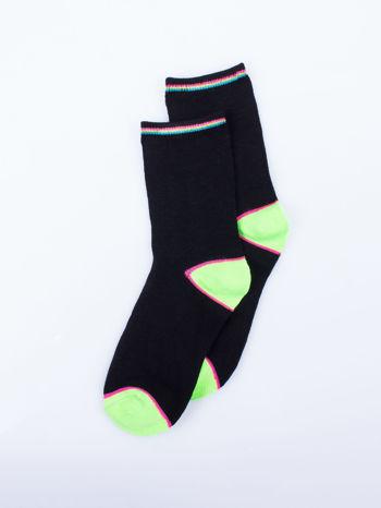 Skarpetki damskie czarne kolorowa stopa i palce mix 5 par                                  zdj.                                  9