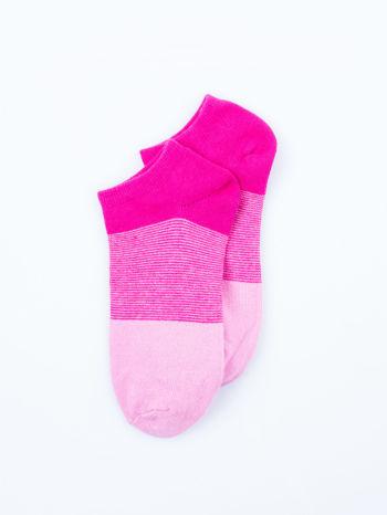 Skarpetki damskie stopki róż-szary zestaw 2 pary                                  zdj.                                  3