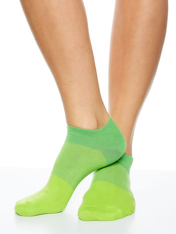 Skarpetki damskie stopki zielony-szary zestaw 2 pary                                  zdj.                                  4