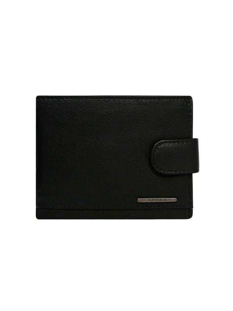 Skórzany portfel męski z zapięciem czarny                              zdj.                              2