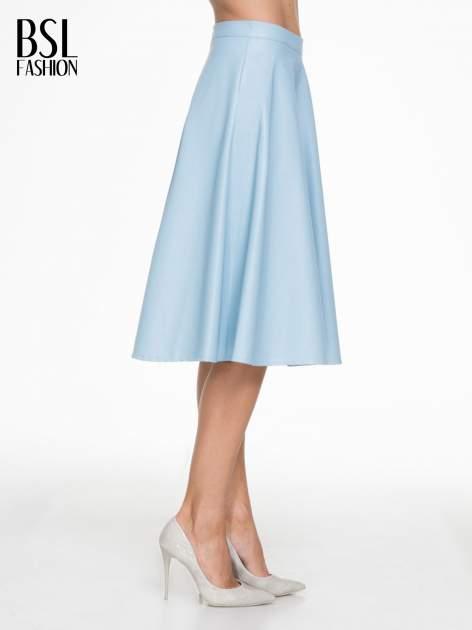 Spódnica midi szyta z półkola w kolorze baby blue                                  zdj.                                  3