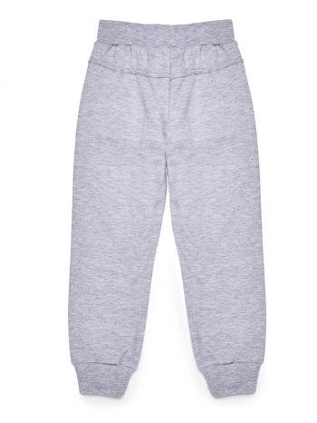 Spodnie dresowe chłopięce szare z nadrukiem
