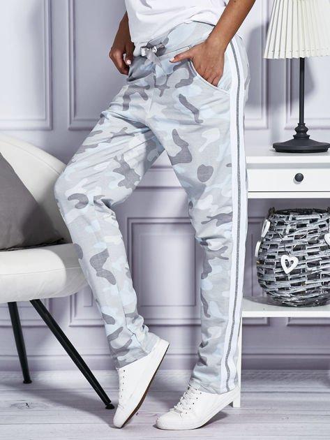 Spodnie dresowe deseń moro szare                                  zdj.                                  5