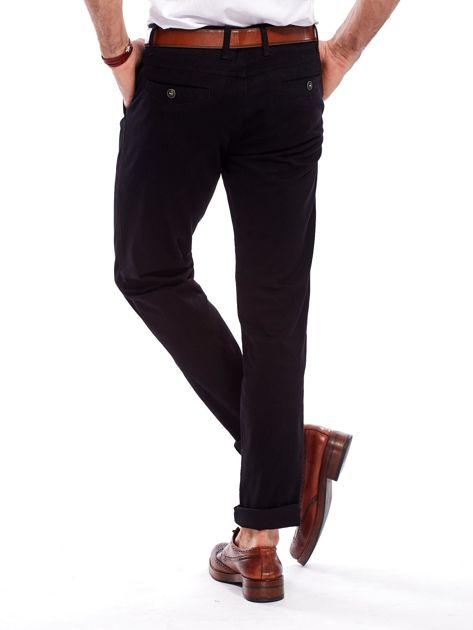 Spodnie męskie czarne o prostym kroju                                  zdj.                                  2