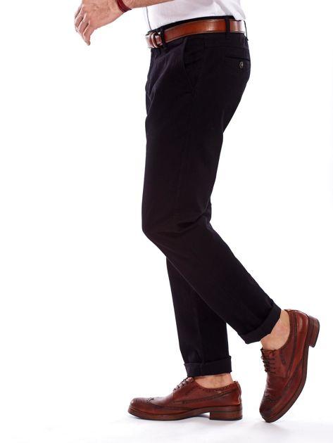 Spodnie męskie czarne o prostym kroju                                  zdj.                                  9