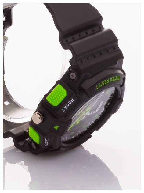 Sportowy męski zegarek wielofunkcyjny. Dwa czasy. Podwójny mechanizm - elektroniczny + analogowy. Wodoodporny                                  zdj.                                  3