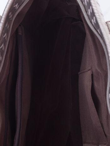 Srebrna pleciona torba shopper bag ze złotym detalem                                  zdj.                                  5