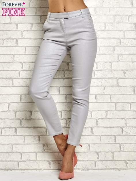 Srebrne brokatowe spodnie                                  zdj.                                  1