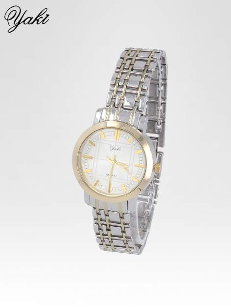 Srebrny klasyczny zegarek damski na bransolecie                                  zdj.                                  2