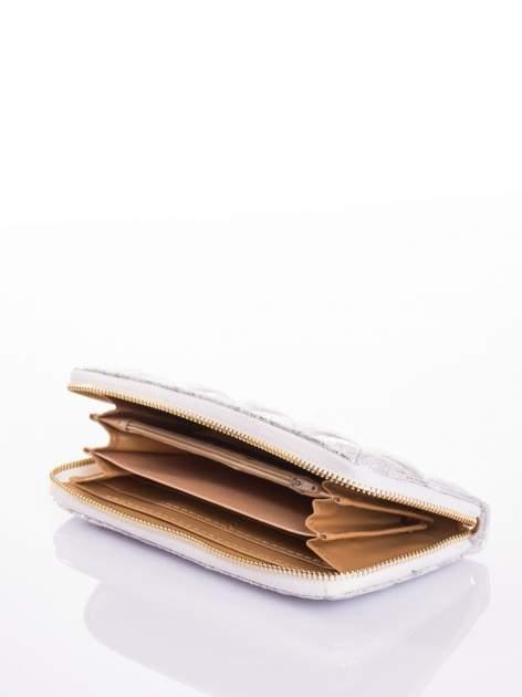 Srebrny pikowany portfel                                  zdj.                                  5