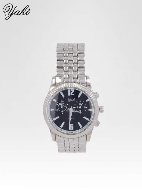 Srebrny zegarek damski boyfriend watch na bransolecie                                  zdj.                                  1
