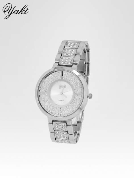 Srebrny zegarek damski na bransolecie ze srebrną cyrkoniową tarczą                                   zdj.                                  2