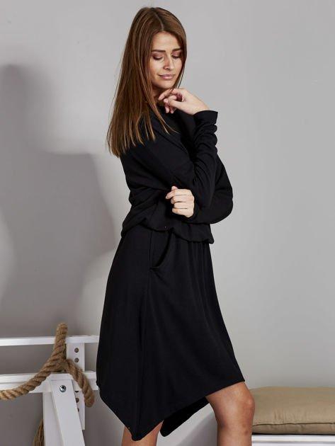 Sukienka damska z dekoltem łódką czarna                              zdj.                              5