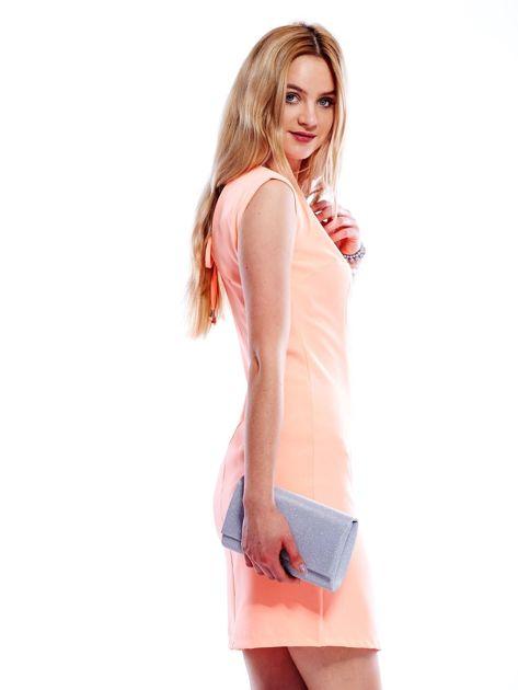 Sukienka fluo pomarańczowa z wiązaniem z tyłu                              zdj.                              5