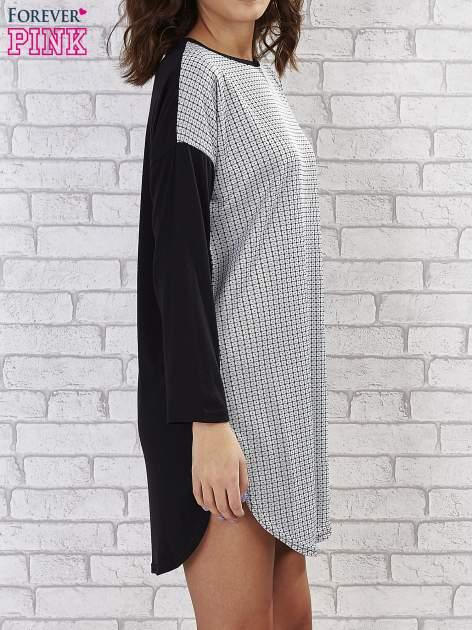 Sukienka two tone w geometryczne wzory                                  zdj.                                  4