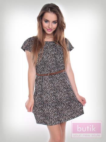 Sukienka w panterkę                                  zdj.                                  3