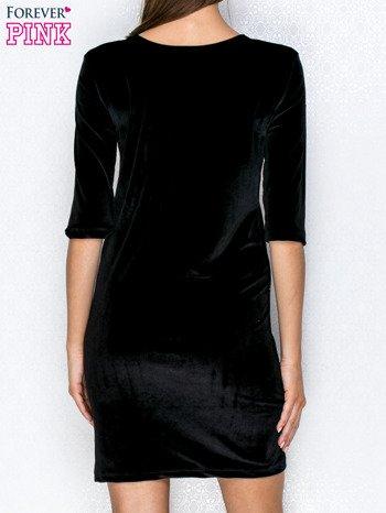 Sukienka z wiązaniem z przodu czarna