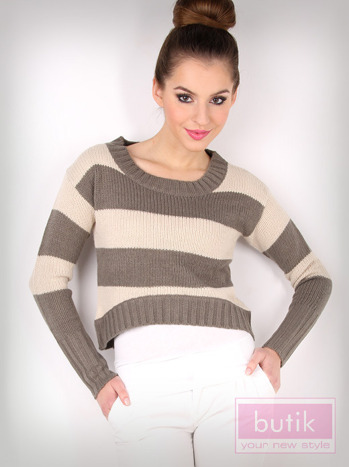 Sweter w paski                                  zdj.                                  2
