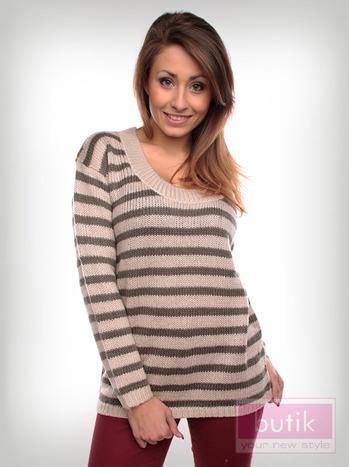 Sweter w paski                                  zdj.                                  4